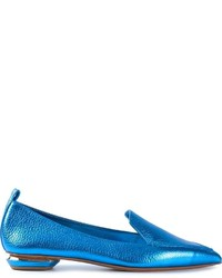 Aquamarine Leather Loafers