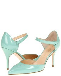 Aquamarine Leather Pumps