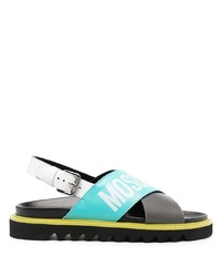 Moschino Cross Over Logo Sandals