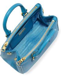bd816dc9a27 ... Leather Satchel Bags Prada Saffiano Mini Galleria Crossbody Bag Blue  Prada Saffiano Mini Galleria Crossbody Bag Blue