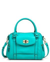 Merona Satchel Handbag Turquoise