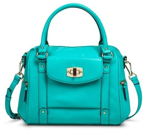 39 Merona Satchel Handbag Turquoise