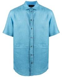 Emporio Armani Short Sleeved Linen Shirt