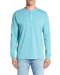 Psycho Bunny Long Sleeve Henley T Shirt