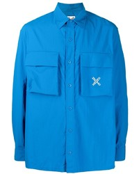 Kenzo Logo Embroidered Long Sleeve Shirt