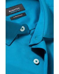 Bugatchi Ooohcotton Tech Solid Knit Button Up Shirt