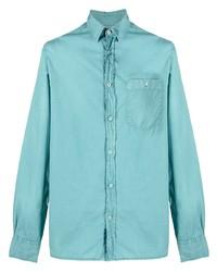 Officine Generale Patch Pocket Long Sleeved Shirt