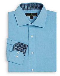 Regular Fit Diamond Trim Cotton Dress Shirt