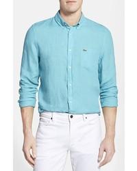 Lacoste Regular Fit Linen Woven Shirt