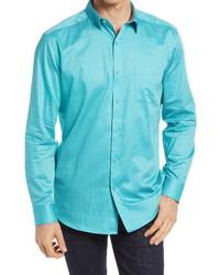 Johnston & Murphy Third Eye Print Button Up Shirt