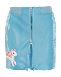 Moschino My Little Pony Appliqud Lurex Mini Skirt