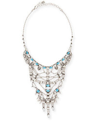 Dannijo Malin Crystal Statet Necklace Turquoise