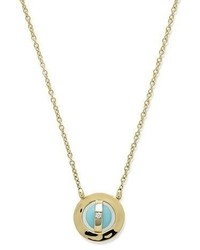 Ippolita 18k Senso Open Disc Necklace In Turquoise Diamond
