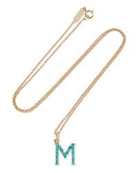 Jennifer Meyer Letter 18 Karat Gold Diamond Necklace