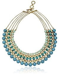 Carolee The Blue Line The Blue Line Dramatic Multi Row Necklace 16 3 Extender