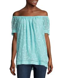St johns bay st johns bay short sleeve jacquard blouse medium 4381395