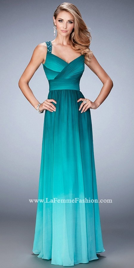 La Femme Crystal Encrusted Ombre Prom Dress | Where to buy & how to wear