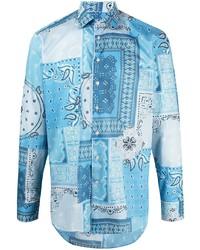 Aquamarine Paisley Long Sleeve Shirt