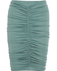 Caliga ruched stretch jersey skirt blue medium 5083633