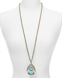 Aqua Claudia Teardrop Pendant Necklace 33
