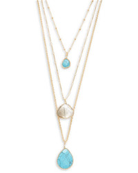 Design Lab Lord Taylor Layered Stone Pendant Necklace