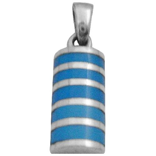 FashionJewelryForEveryone Stylinsh Sterling Silver Pendant W Inlaid Turquoise Silver Pendant