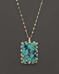 Lana Jewelry 14k Gold Turquoise Pendant Necklace 18