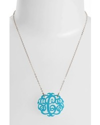 Medium oval personalized monogram pendant necklace medium 714878