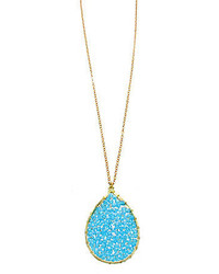 Panacea Genuine Crystal Pendant Teardrop Necklace