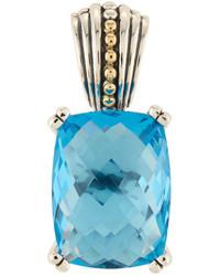 Lagos Prism Blue Topaz Pendant Enhancer