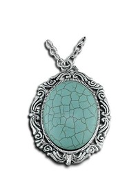 VistaBella Fashion Vintage Turquoise Pendant Necklace