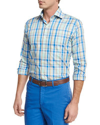 Holiday plaid sport shirt medium 4106049