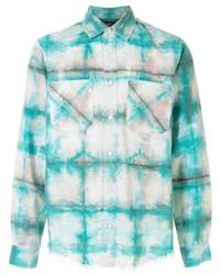Amiri Tie Dye Checked Long Sleeve Shirt