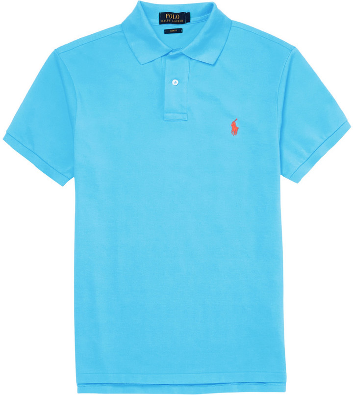 ... Polo Ralph Lauren Slim Fit Cotton Piqu Polo Shirt ...