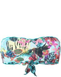 Aquamarine Print Bikini Top