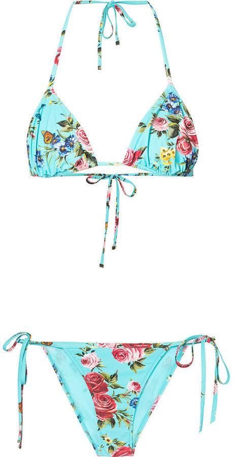 Dolce & Gabbana Rose Print Bikini