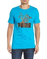 Aquamarine Print Crew-neck T-shirt