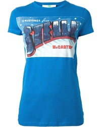 Aquamarine Print Crew-neck T-shirt