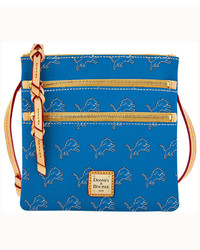 Dooney & Bourke Detroit Lions Triple Zip Crossbody Bag