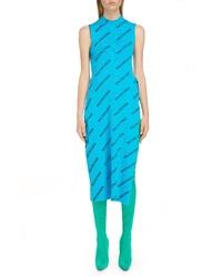 Balenciaga Rib Knit Wrap Dress