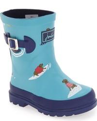 Joules Toddler Boys Welly Print Waterproof Rain Boot