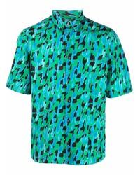 Salvatore Ferragamo Abstract Print Short Sleeved Shirt