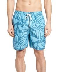 Aquamarine Print Shorts