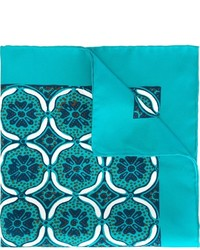 Kiton Tile Print Pocket Square