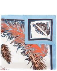 Aquamarine Print Silk Scarf