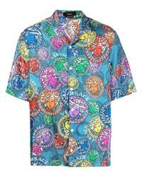 Versace Medusa Print Silk Shirt