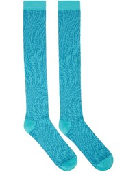Fendi Blue Ff Vertigo Socks