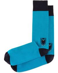 Jonathan Adler Owl Printed Socks Teal