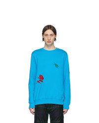 Paul Smith Blue Embroidered Charm Sweatshirt