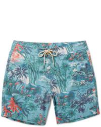 Aquamarine Print Swim Shorts